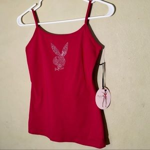 NWT Playboy Intimates Red Camisole, Sz S